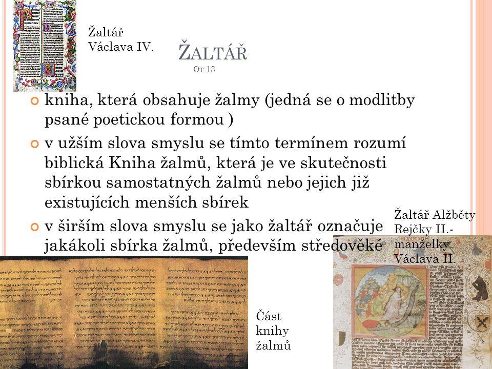 Žaltář Ot.13 Žaltář Václava IV.