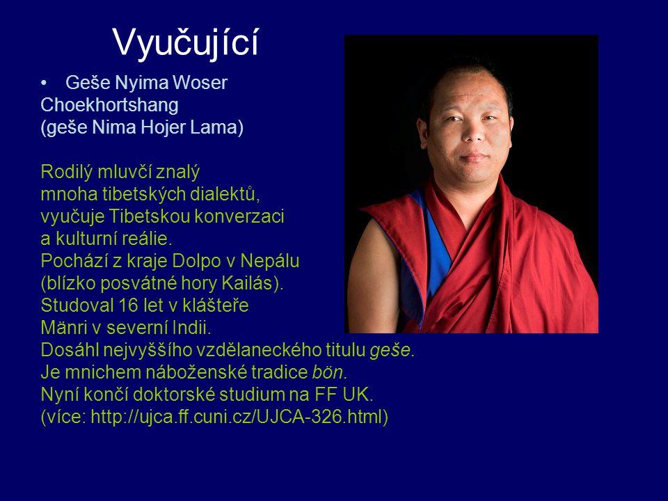 Vyučující Geše Nyima Woser Choekhortshang (geše Nima Hojer Lama)
