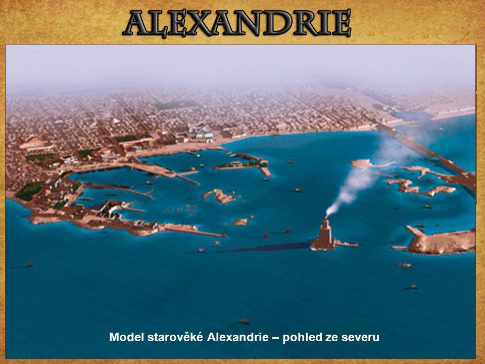 Model starověké Alexandrie – pohled ze severu