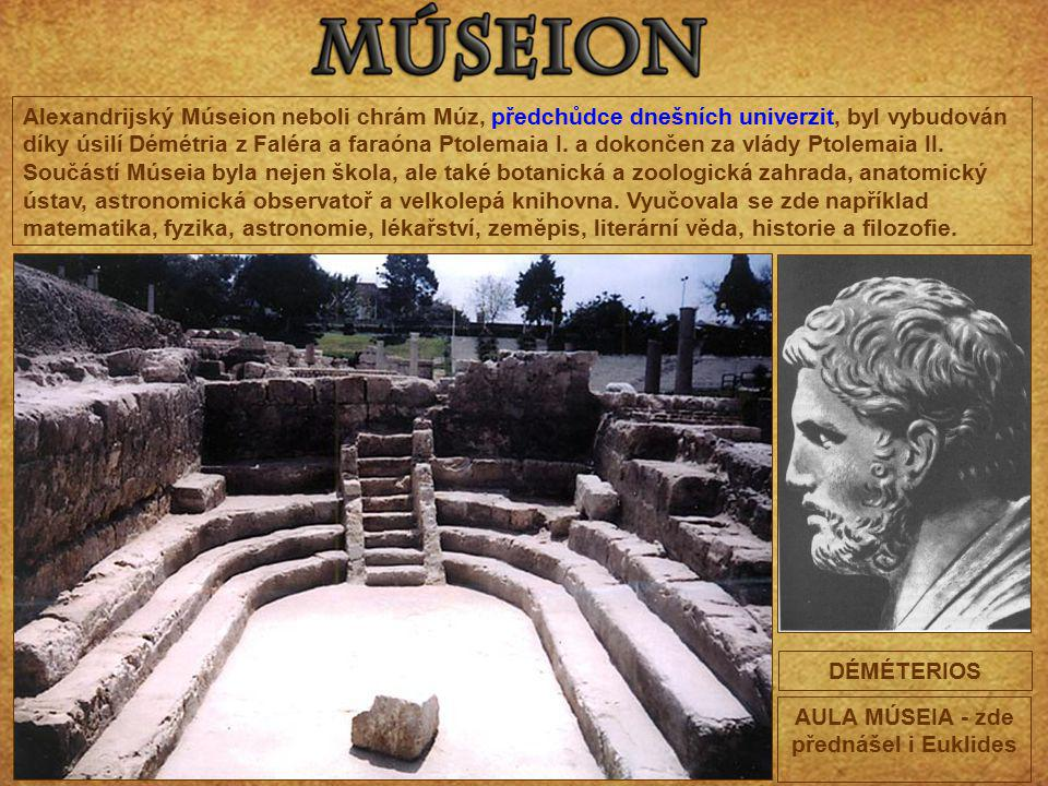 AULA MÚSEIA - zde přednášel i Euklides