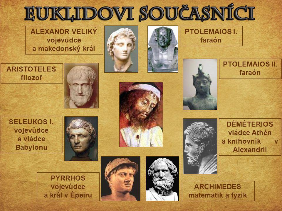ALEXANDR VELIKÝ vojevůdce a makedonský král PTOLEMAIOS I. faraón
