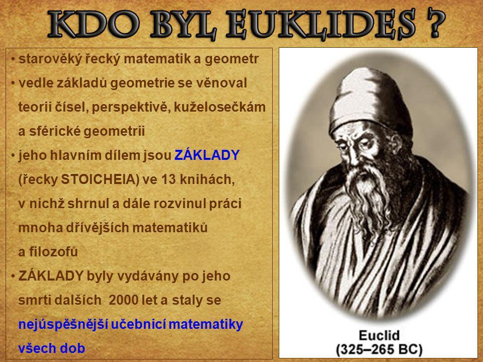starověký řecký matematik a geometr