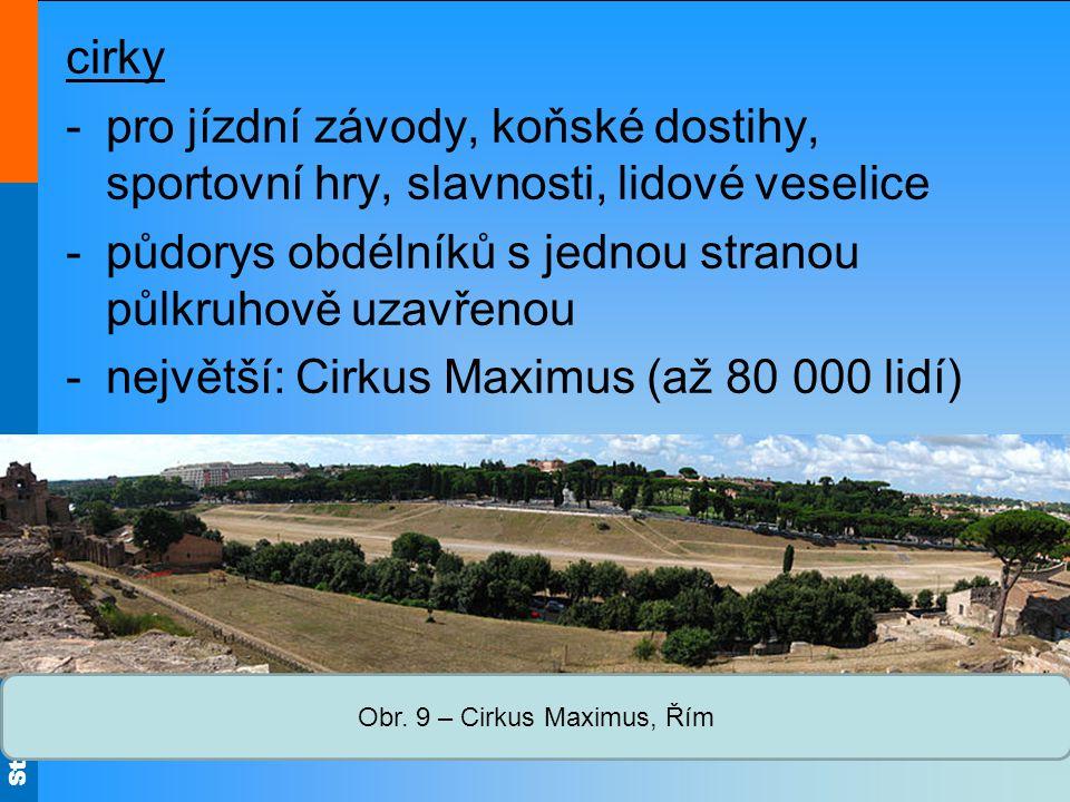 Obr. 9 – Cirkus Maximus, Řím