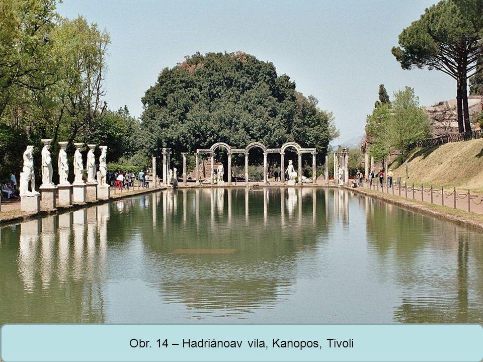 Obr. 14 – Hadriánoav vila, Kanopos, Tivoli