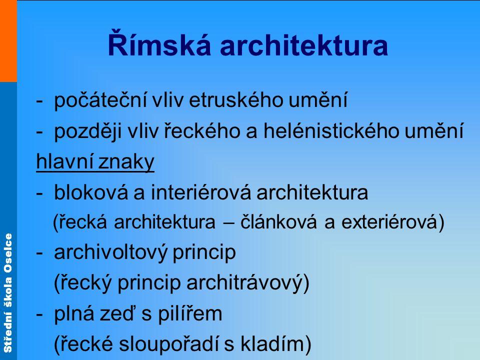 Římská architektura počáteční vliv etruského umění