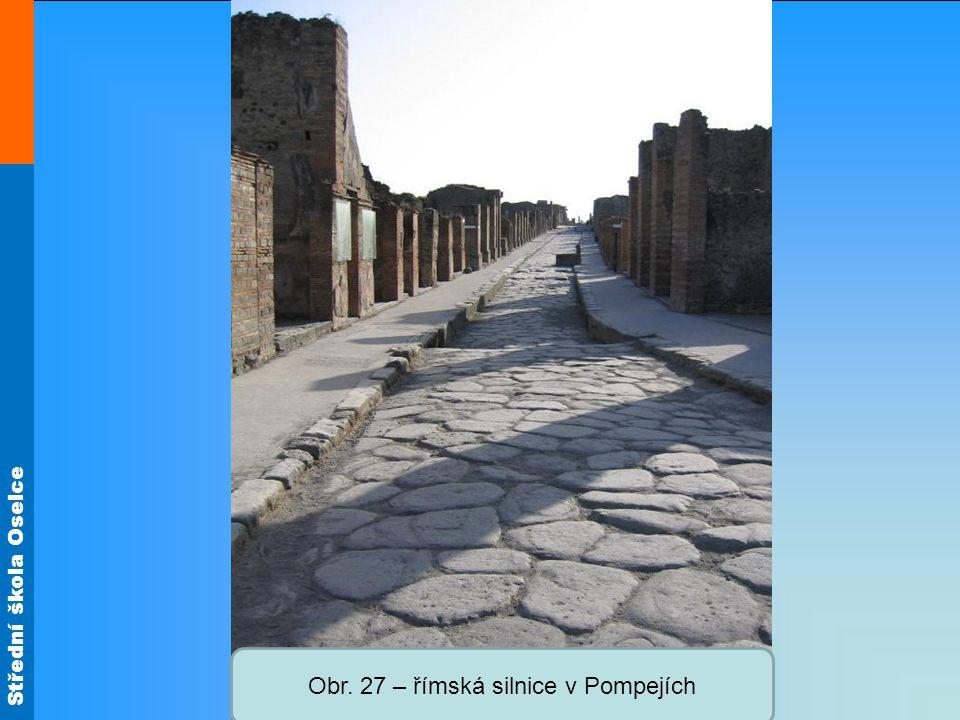 Obr. 27 – římská silnice v Pompejích