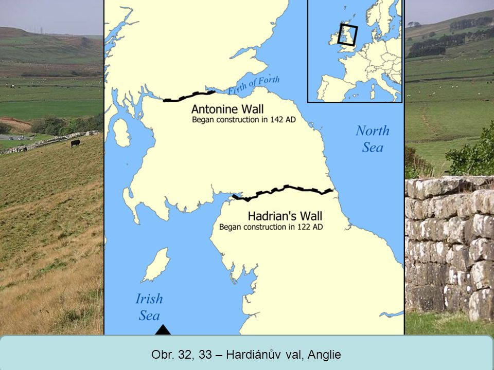 Obr. 32, 33 – Hardiánův val, Anglie