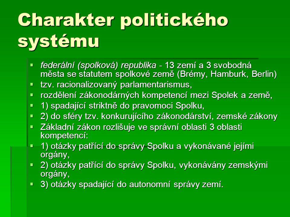 Charakter politického systému