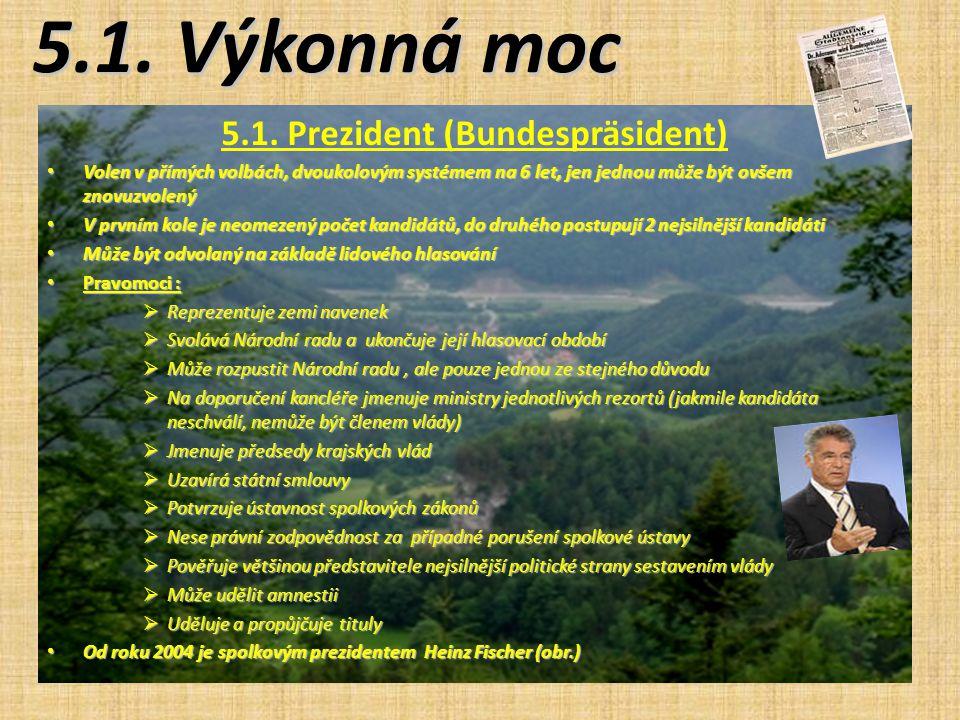 5.1. Prezident (Bundespräsident)