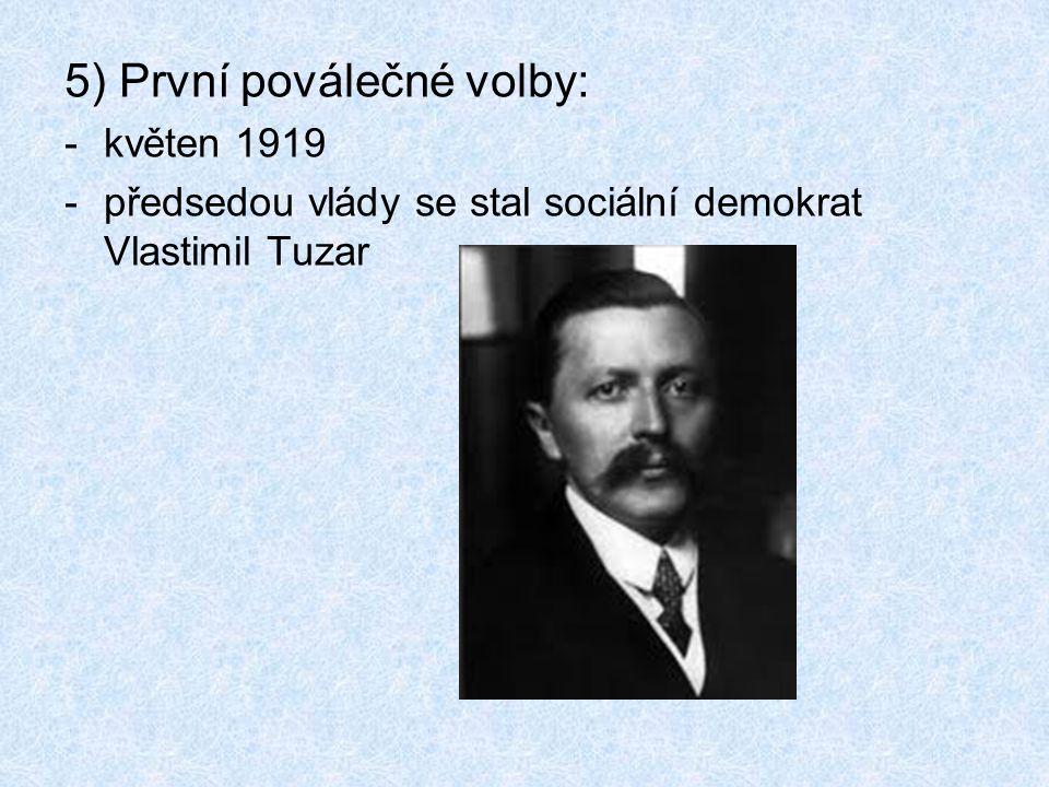 5) První poválečné volby: