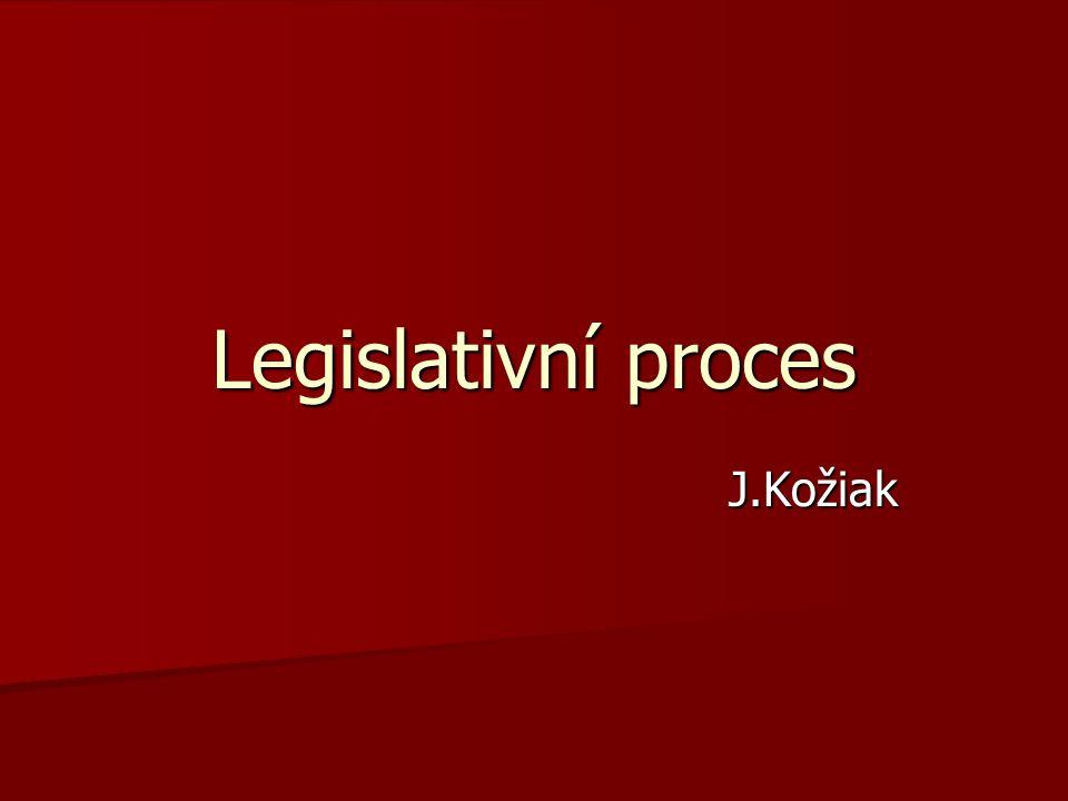 Legislativní proces J.Kožiak
