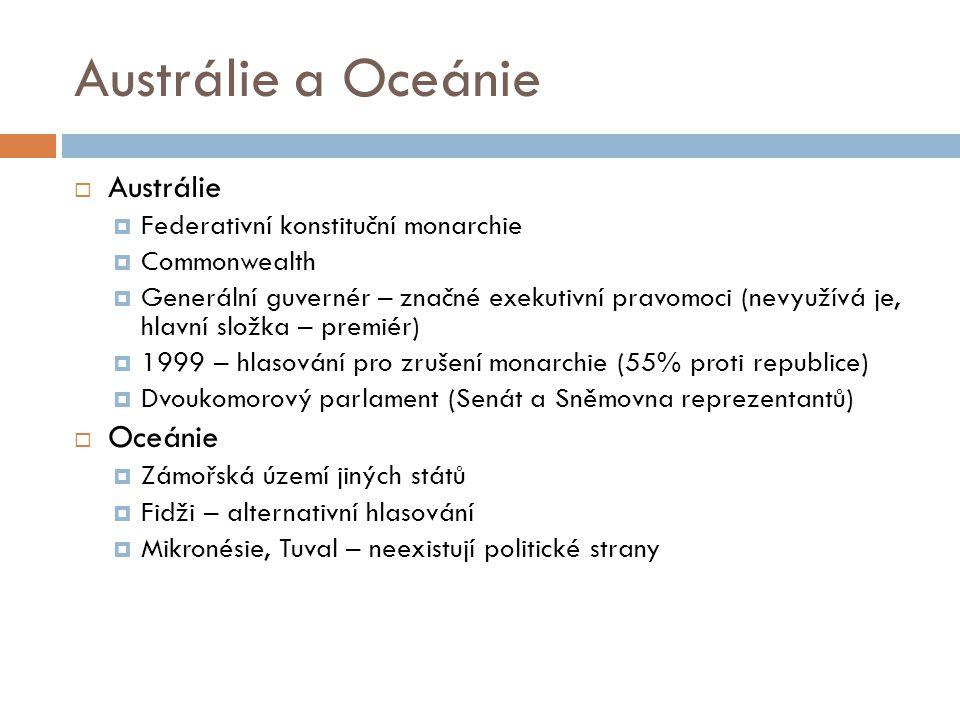 Austrálie a Oceánie Austrálie Oceánie