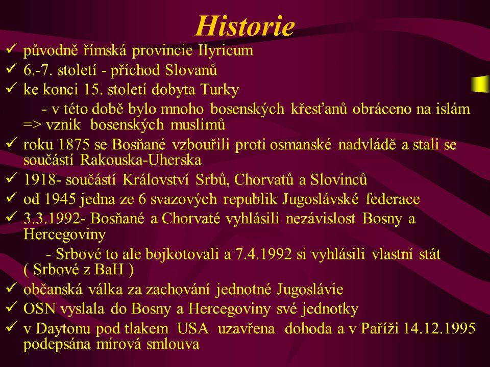 Historie původně římská provincie Ilyricum