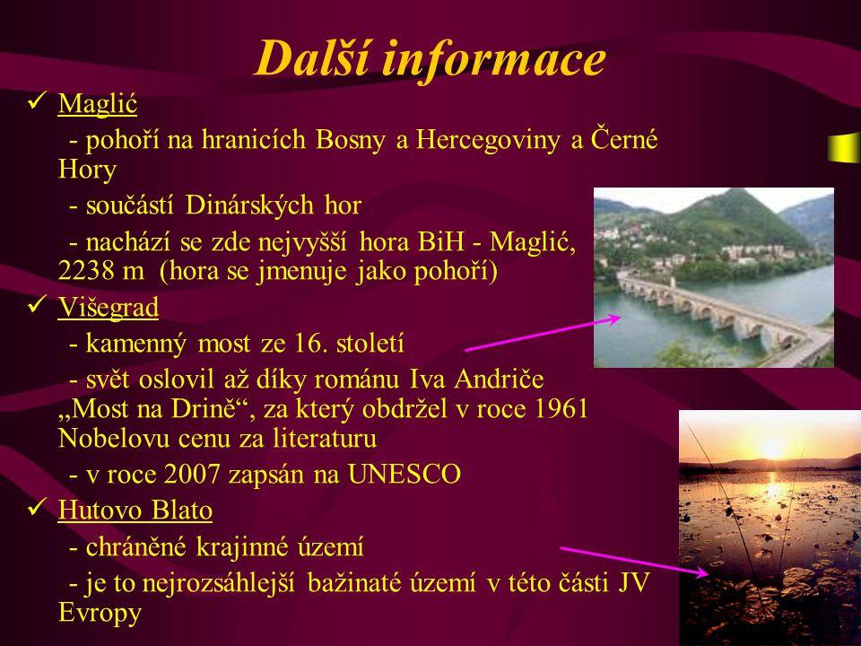 Další informace Maglić