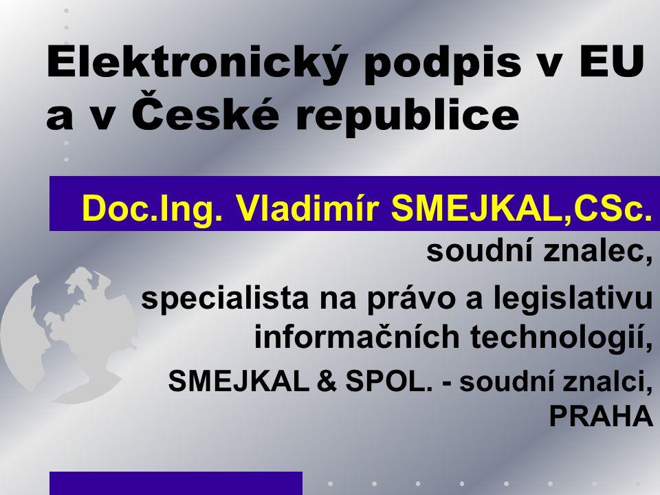 Elektronický podpis v EU a v České republice