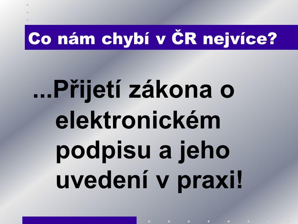 Co nám chybí v ČR nejvíce