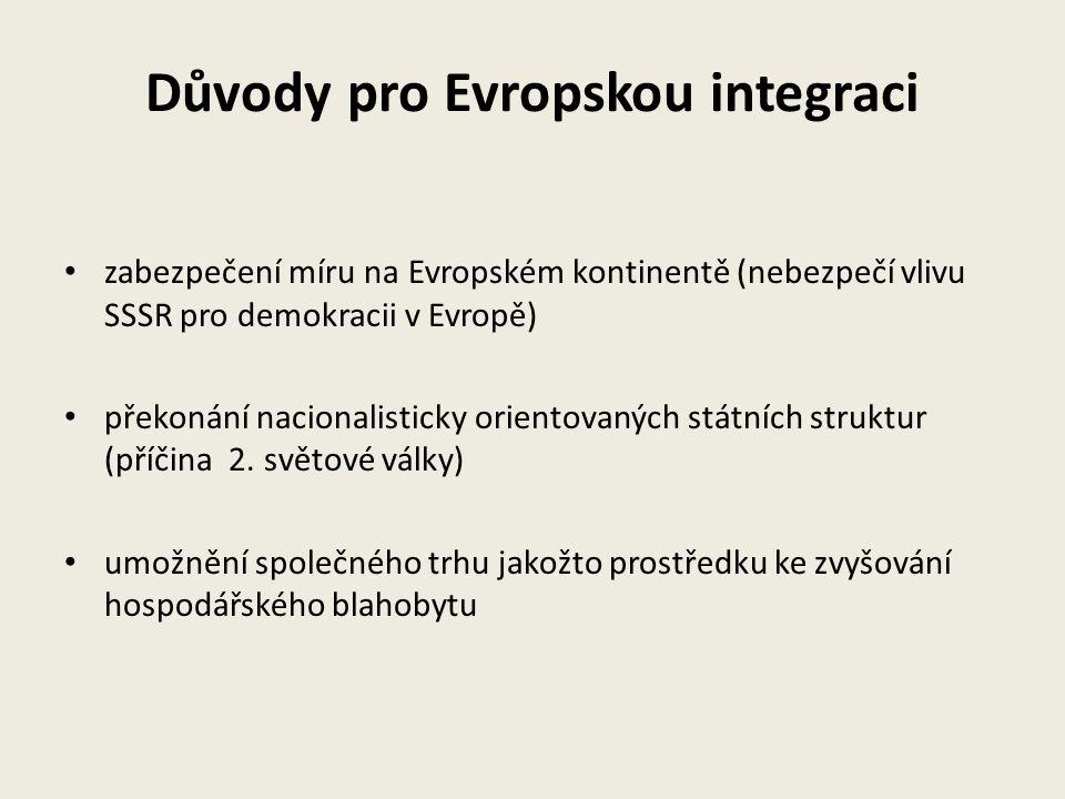 Důvody pro Evropskou integraci