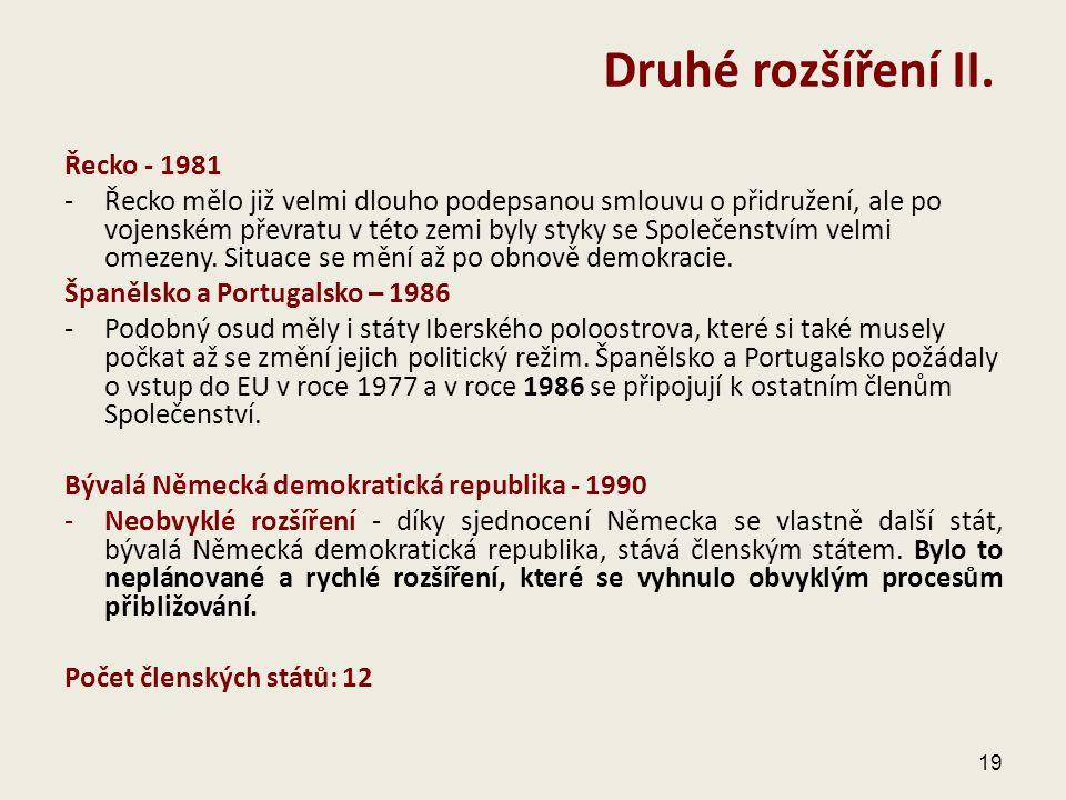 Druhé rozšíření II. Řecko - 1981