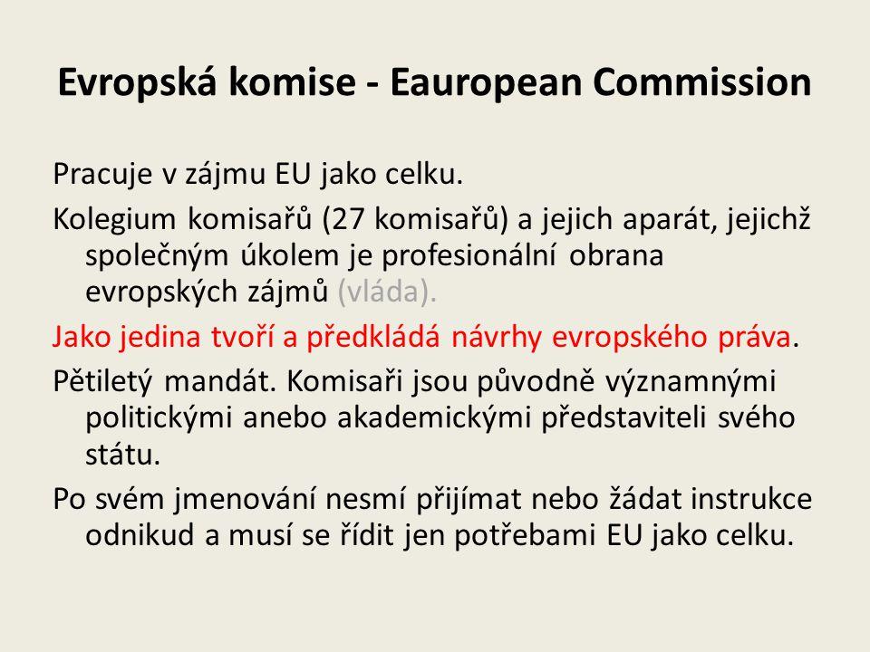 Evropská komise - Eauropean Commission