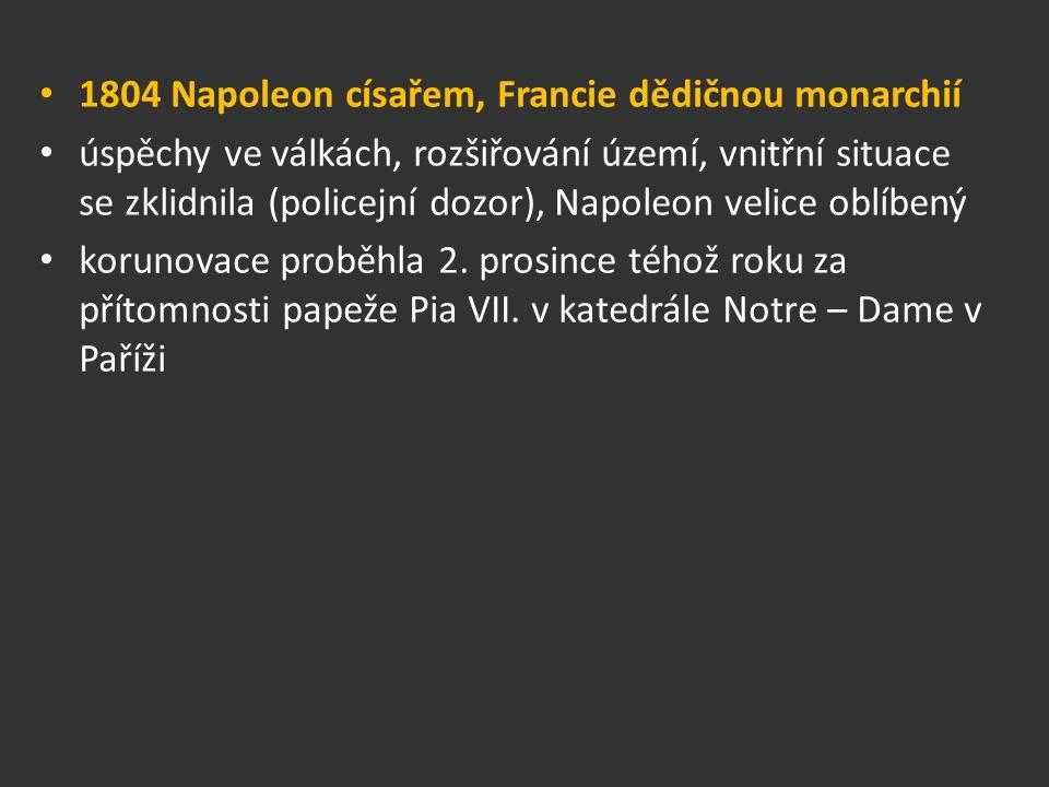 1804 Napoleon císařem, Francie dědičnou monarchií