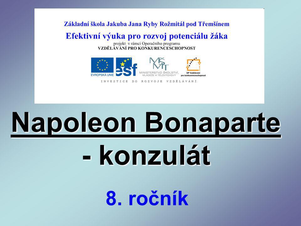 Napoleon Bonaparte - konzulát