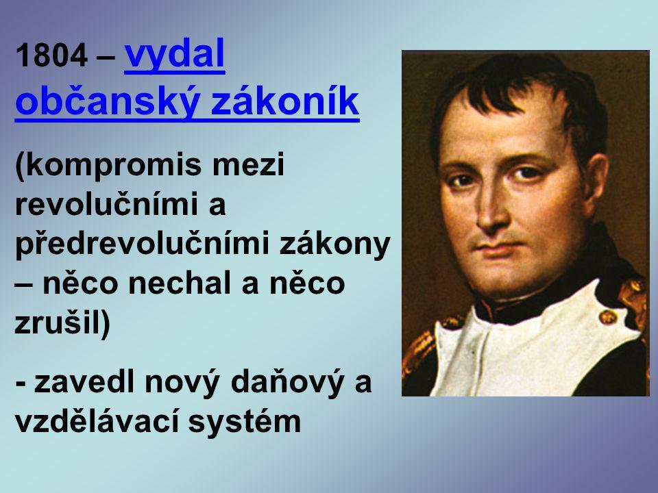 1804 – vydal občanský zákoník