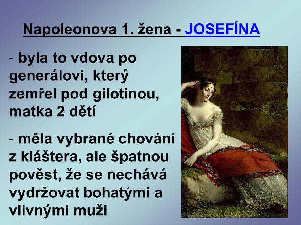 Napoleonova 1. žena - JOSEFÍNA