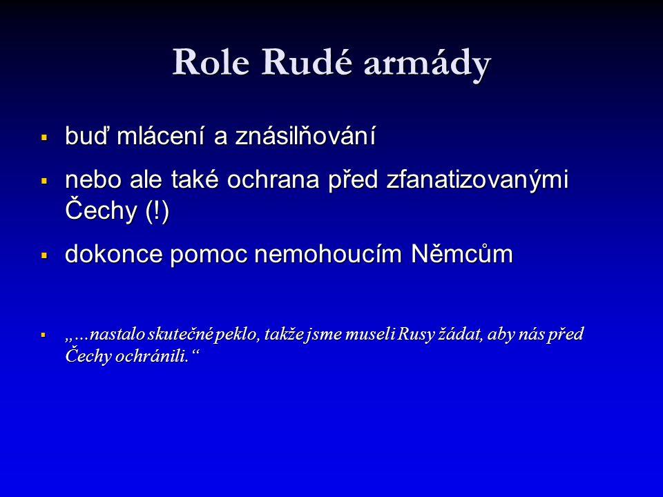 Role Rudé armády buď mlácení a znásilňování