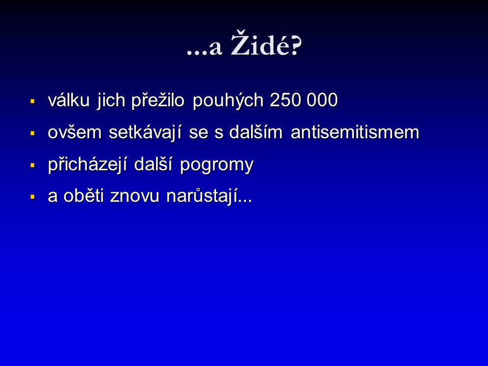 ...a Židé válku jich přežilo pouhých 250 000