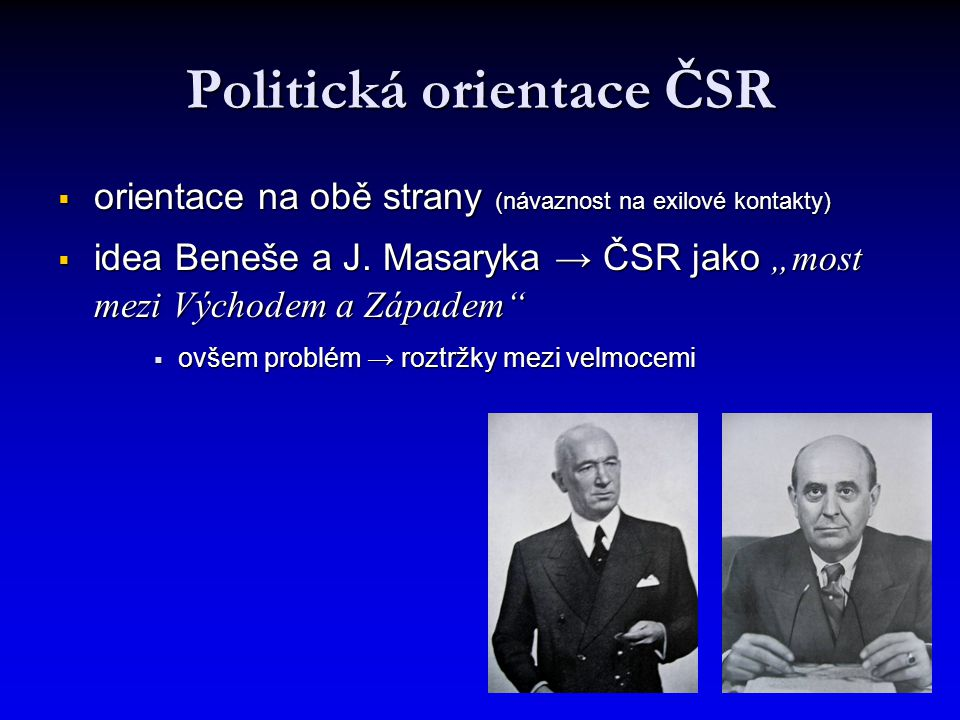 Politická orientace ČSR