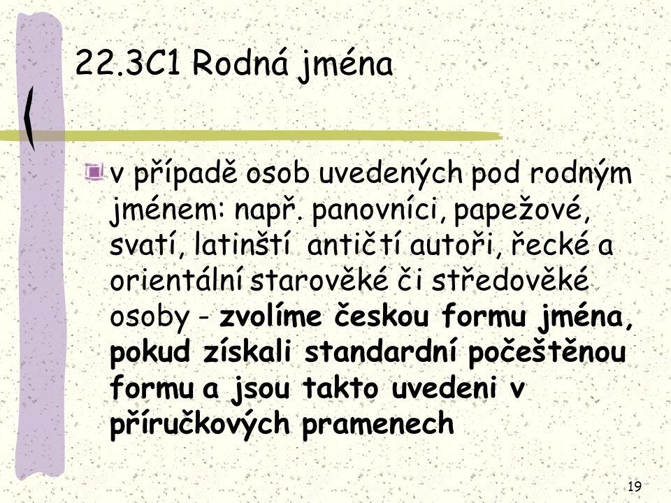 22.3C1 Rodná jména