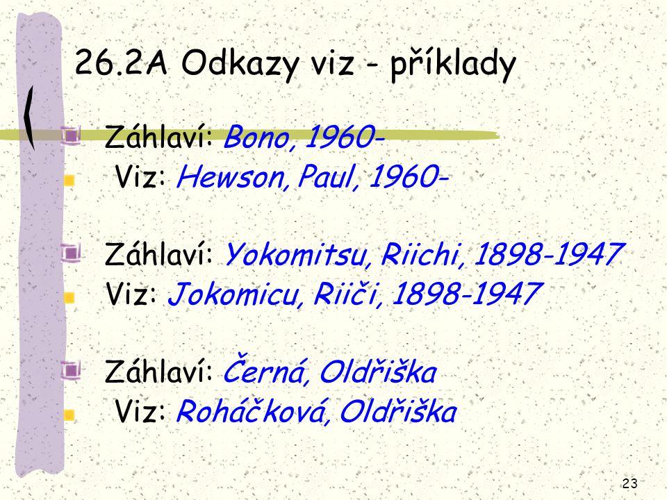 26.2A Odkazy viz - příklady Záhlaví: Bono, 1960-