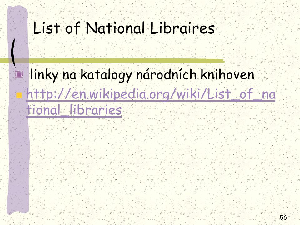 List of National Libraires