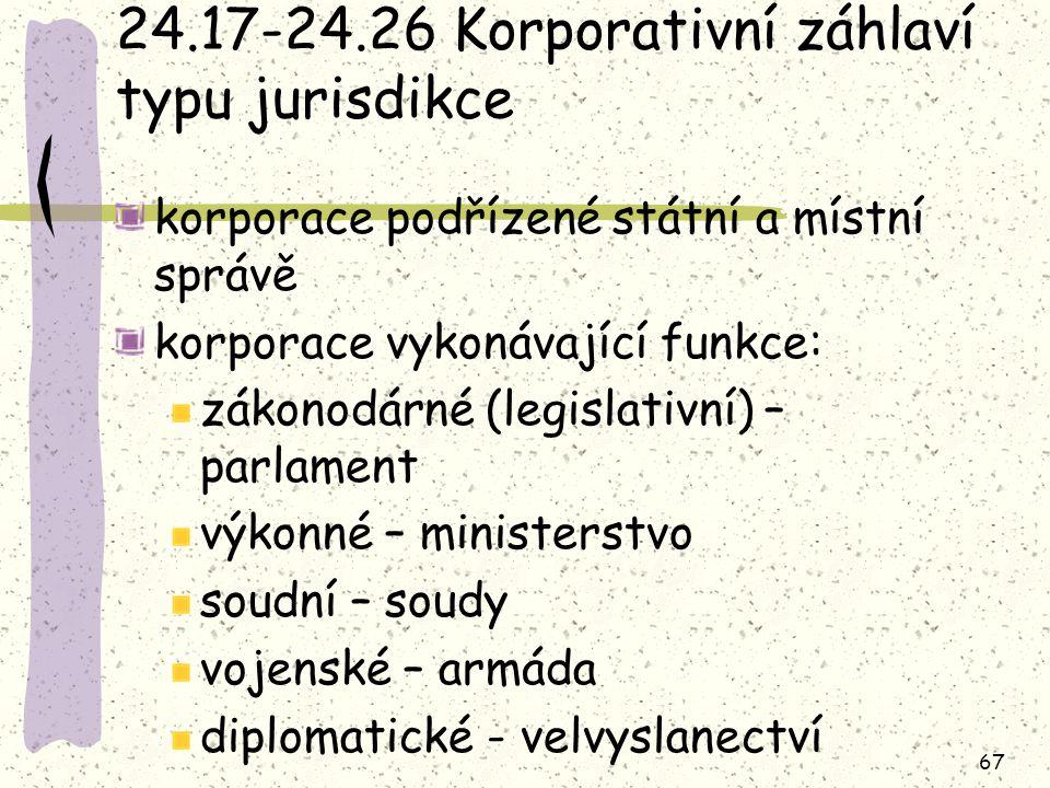 24.17-24.26 Korporativní záhlaví typu jurisdikce