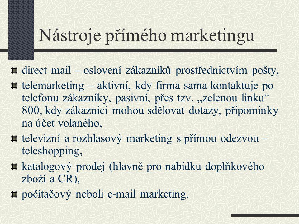 Nástroje přímého marketingu