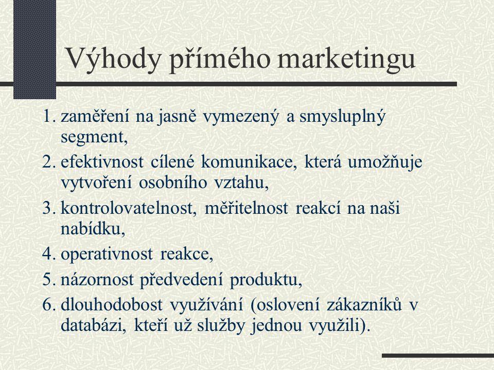 Výhody přímého marketingu