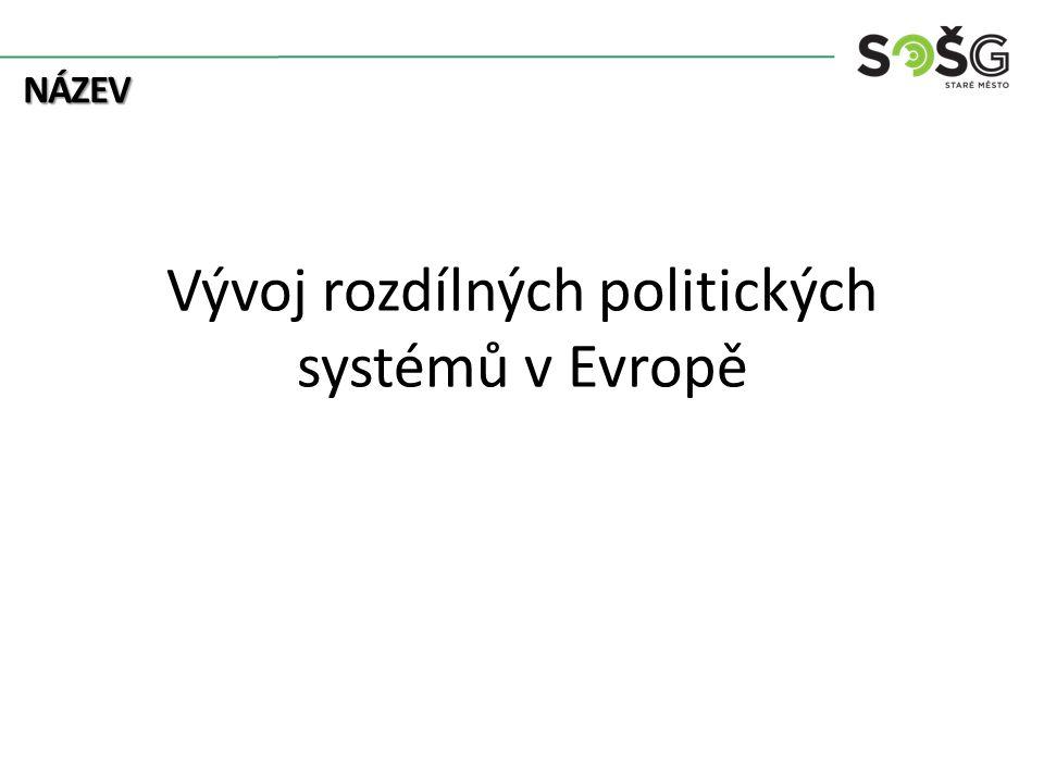 Vývoj rozdílných politických systémů v Evropě