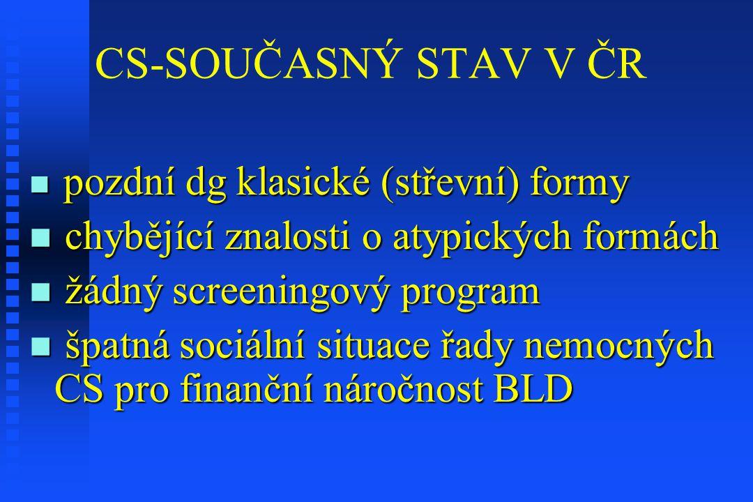 CS-SOUČASNÝ STAV V ČR chybějící znalosti o atypických formách