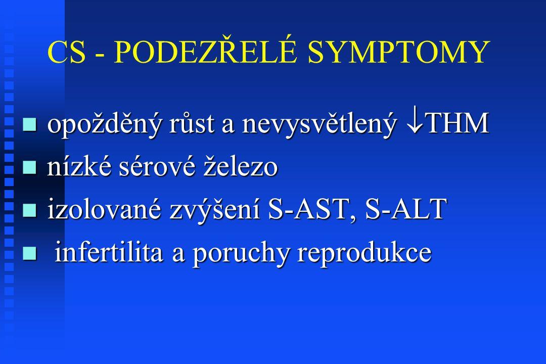 CS - PODEZŘELÉ SYMPTOMY