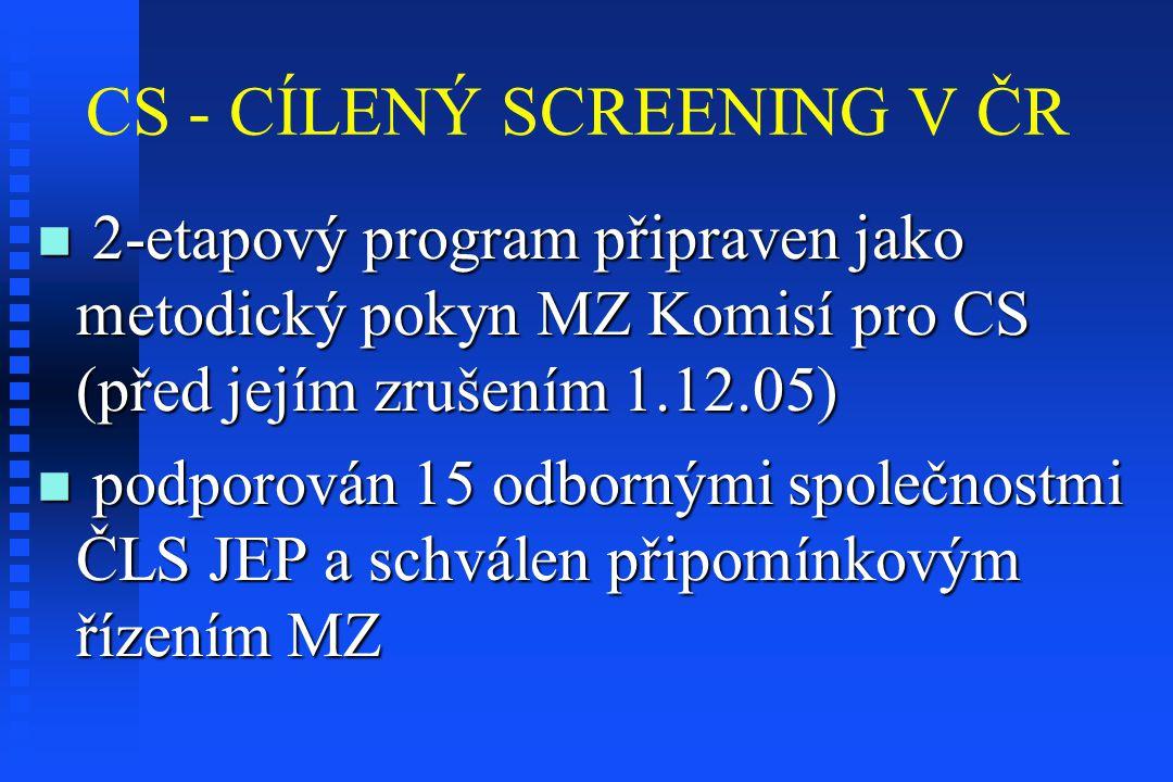 CS - CÍLENÝ SCREENING V ČR