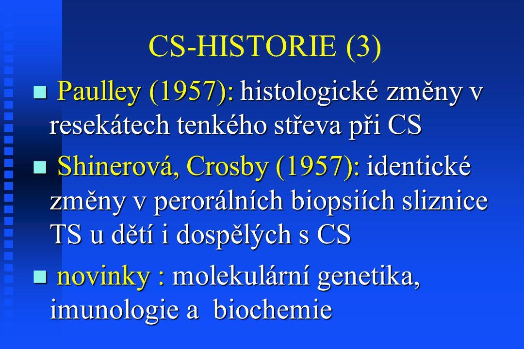 CS-HISTORIE (3) Paulley (1957): histologické změny v resekátech tenkého střeva při CS.