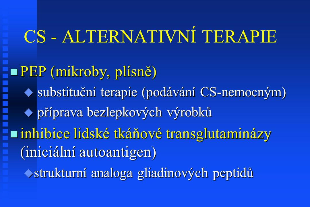 CS - ALTERNATIVNÍ TERAPIE