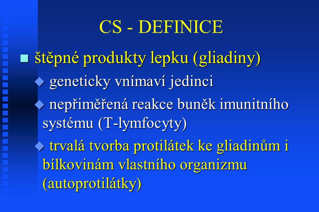 CS - DEFINICE štěpné produkty lepku (gliadiny)