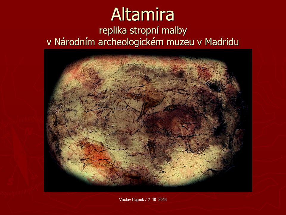 Altamira replika stropní malby v Národním archeologickém muzeu v Madridu