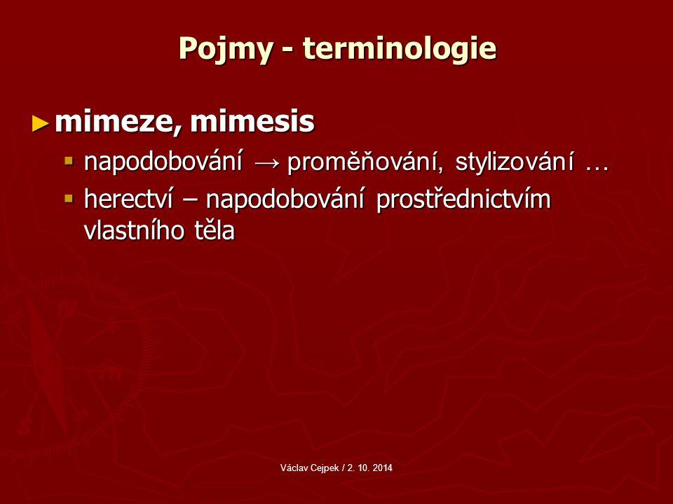 Pojmy - terminologie mimeze, mimesis