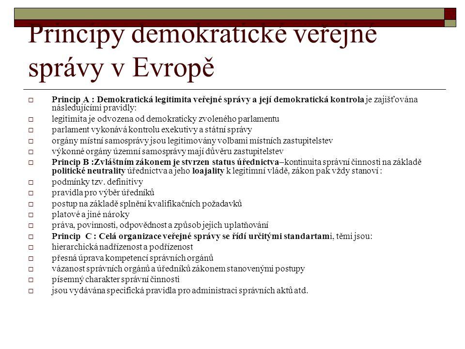 Principy demokratické veřejné správy v Evropě