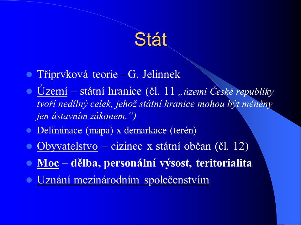 Stát Tříprvková teorie –G. Jelinnek