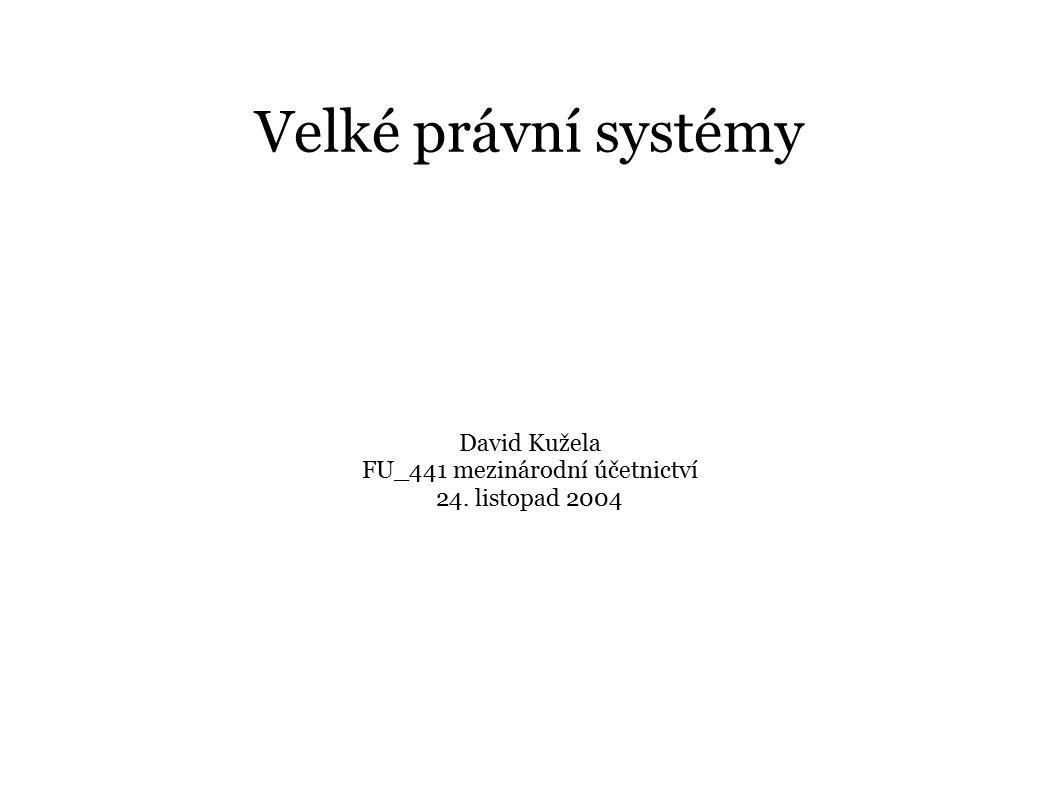 David Kužela FU_441 mezinárodní účetnictví 24. listopad 2004