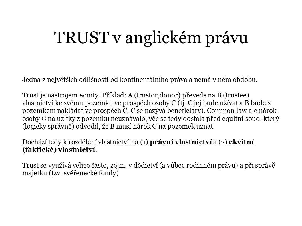 TRUST v anglickém právu