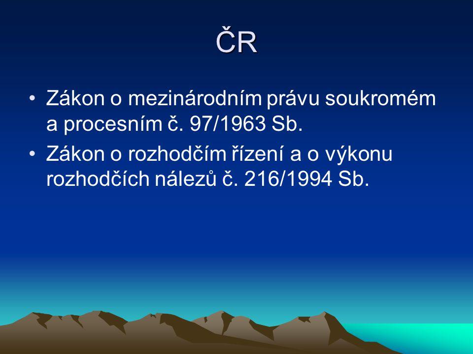 ČR Zákon o mezinárodním právu soukromém a procesním č. 97/1963 Sb.